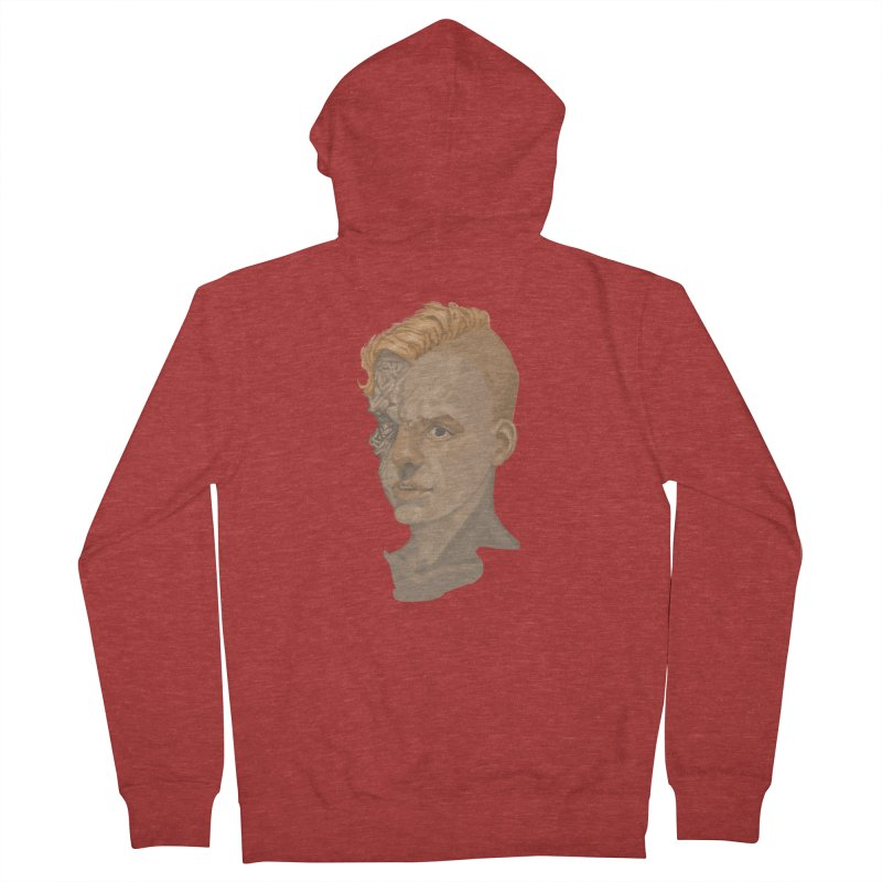 Car Face Men's French Terry Zip-Up Hoody by zonka's Artist Shop