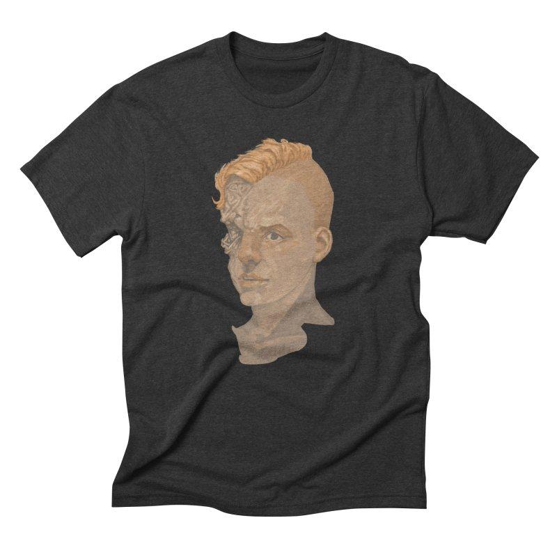 Car Face Men's Triblend T-shirt by zonka's Artist Shop