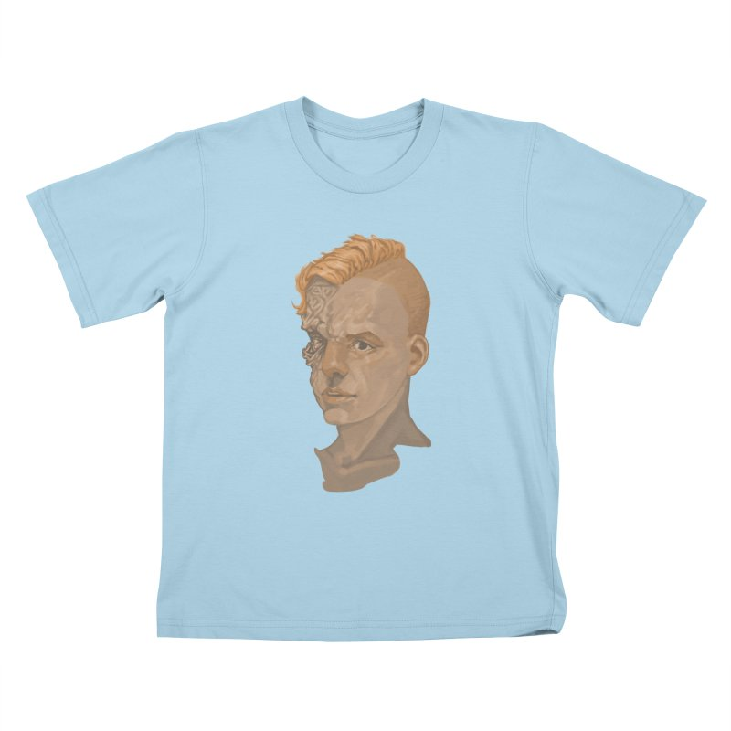 Car Face Kids T-shirt by zonka's Artist Shop