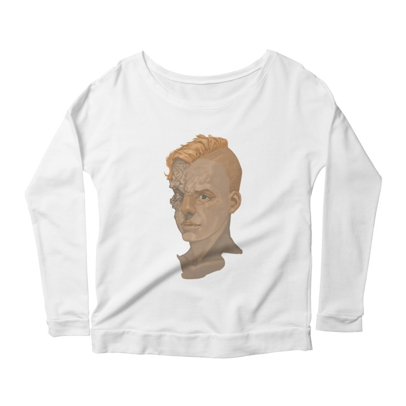 Car Face Women's Scoop Neck Longsleeve T-Shirt by zonka's Artist Shop