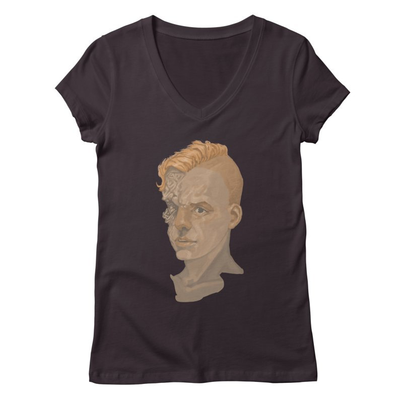 Car Face Women's V-Neck by Aaron Zonka's Artist Shop