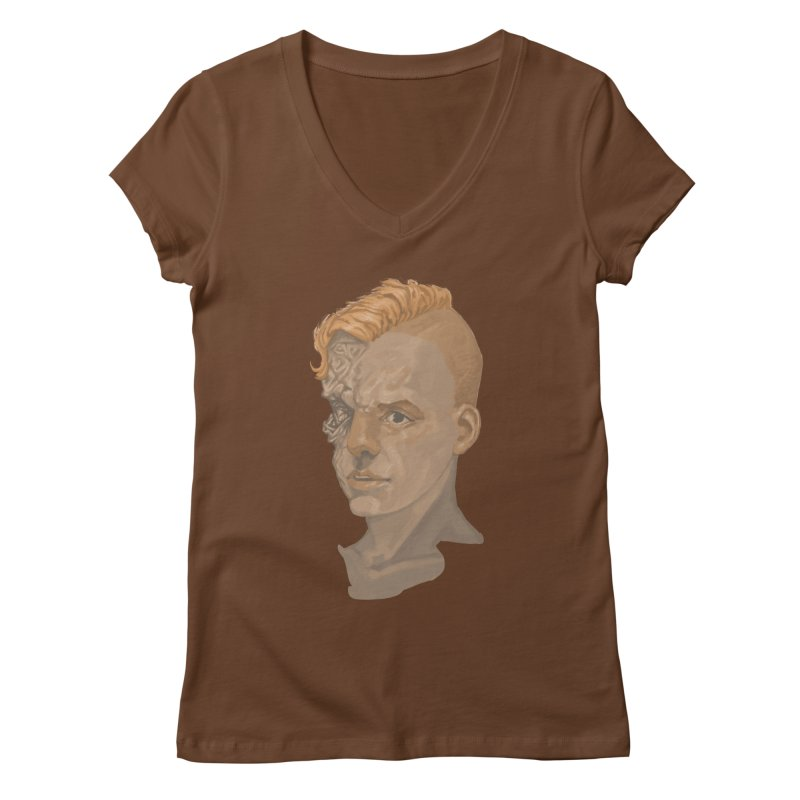 Car Face Women's V-Neck by zonka's Artist Shop