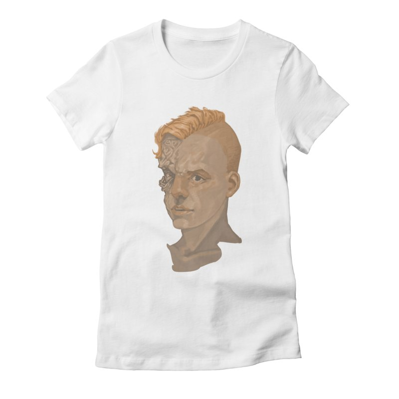 Car Face Women's Fitted T-Shirt by zonka's Artist Shop