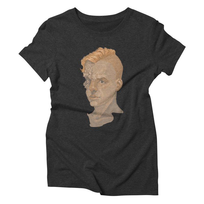 Car Face Women's Triblend T-shirt by zonka's Artist Shop