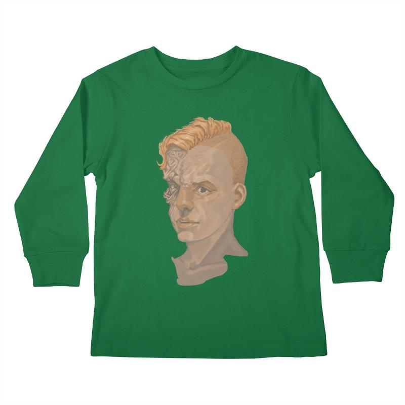 Car Face Kids Longsleeve T-Shirt by Aaron Zonka's Artist Shop