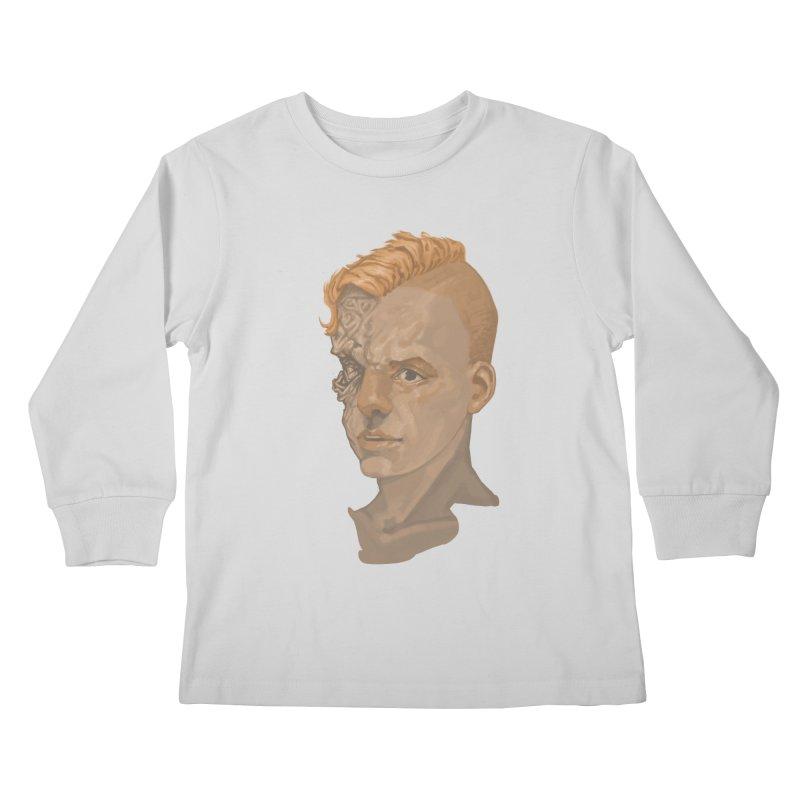 Car Face Kids Longsleeve T-Shirt by zonka's Artist Shop