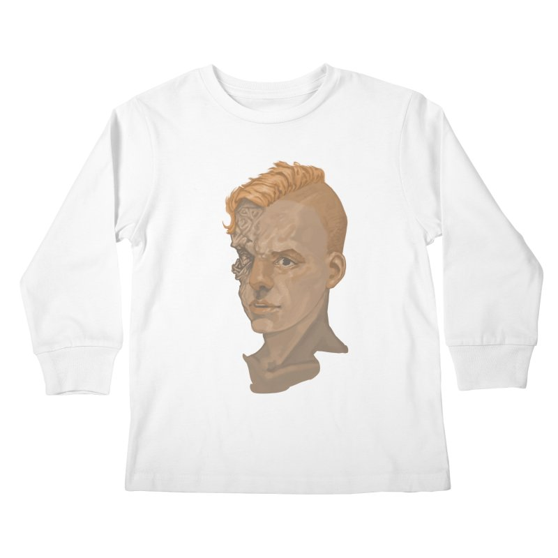 Car Face Kids Longsleeve T-Shirt by zonka's Artist Shop