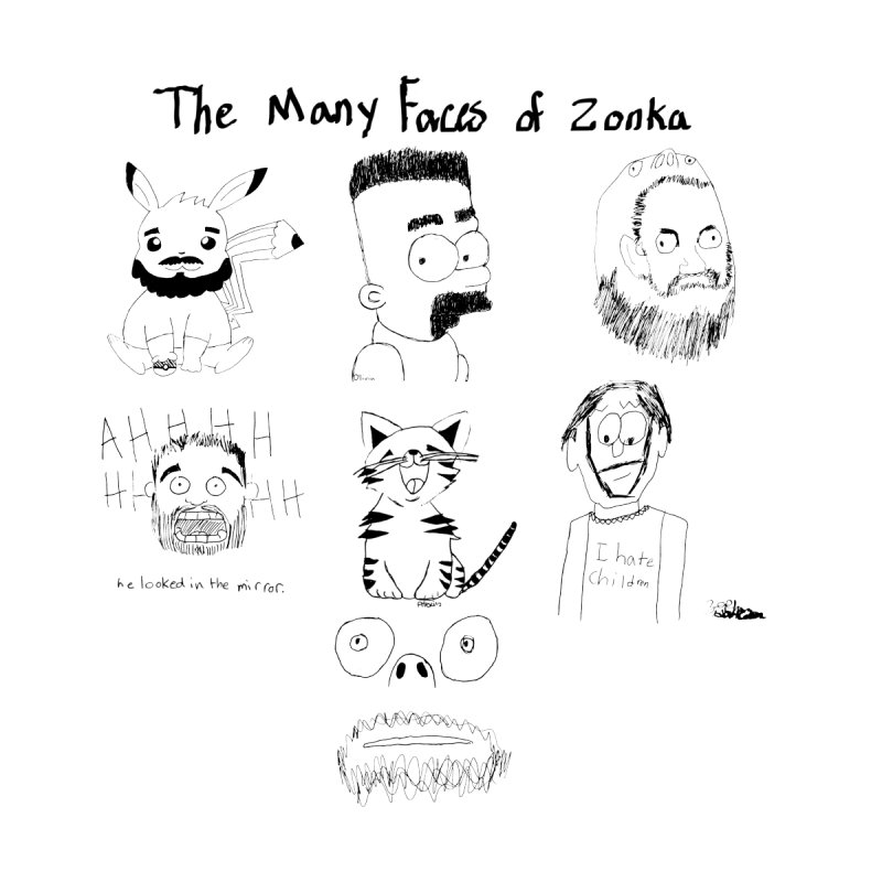 The many faces of Zonka black  by zonka's Artist Shop