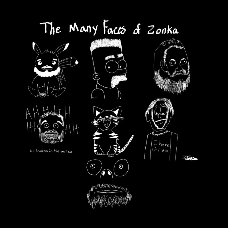The many faces of Zonka white by zonka's Artist Shop