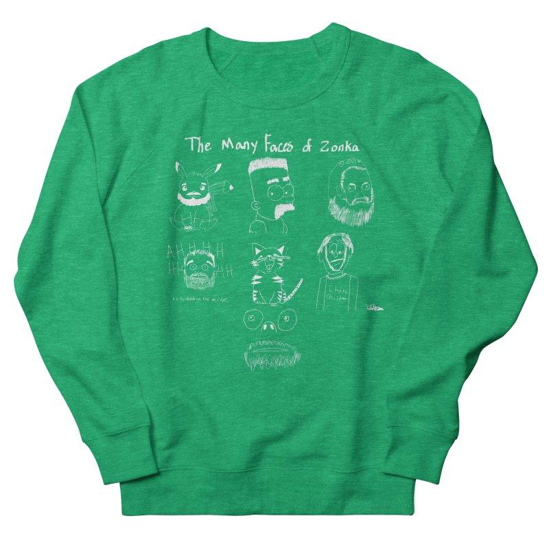 The many faces of Zonka white Men's Sweatshirt by zonka's Artist Shop