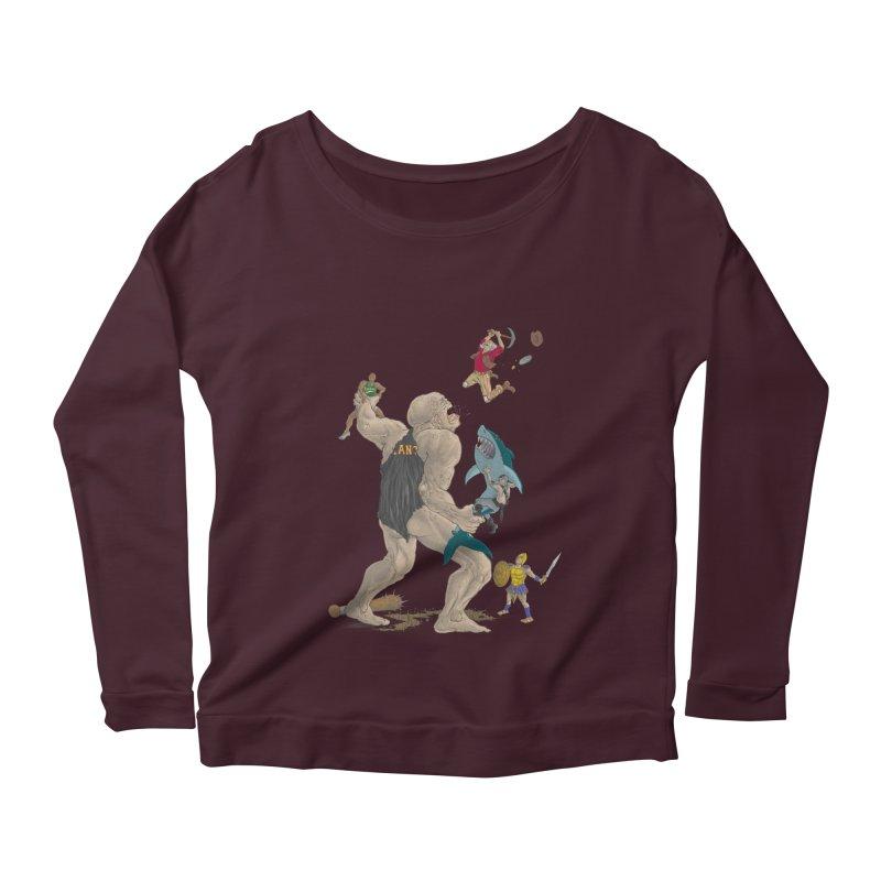 Bay area sports Women's Scoop Neck Longsleeve T-Shirt by zonka's Artist Shop