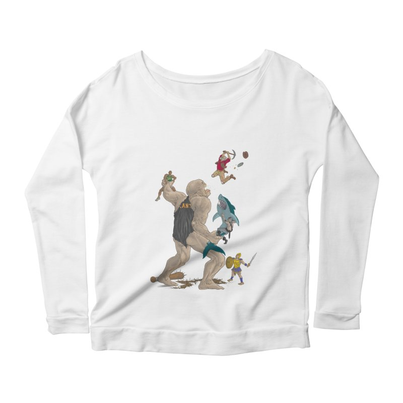 Bay area sports Women's Scoop Neck Longsleeve T-Shirt by zonka's Artist Shop