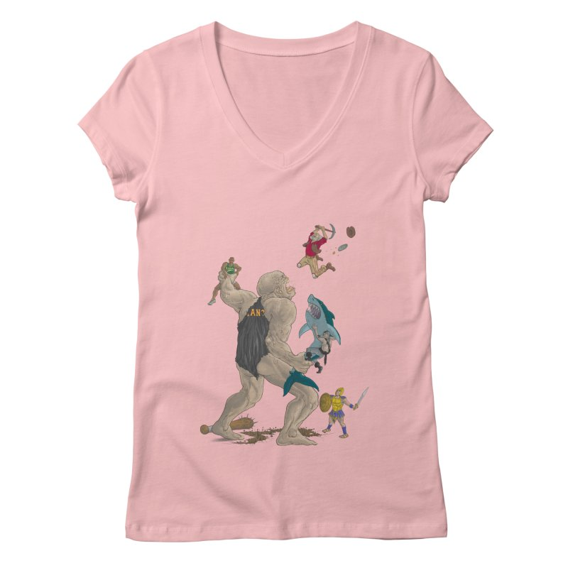 Bay area sports Women's V-Neck by zonka's Artist Shop