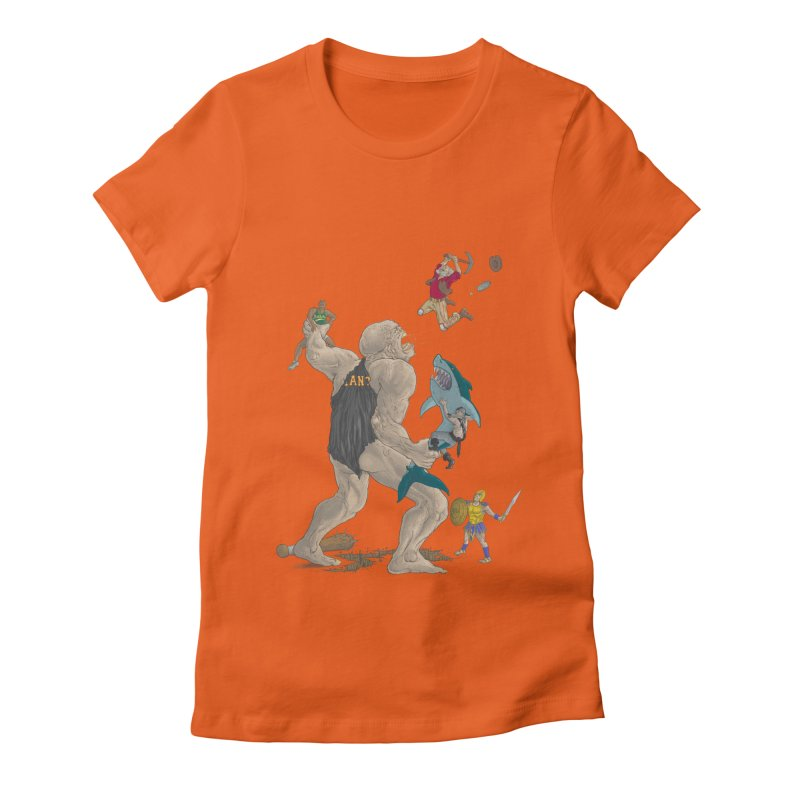 Bay area sports Women's Fitted T-Shirt by zonka's Artist Shop