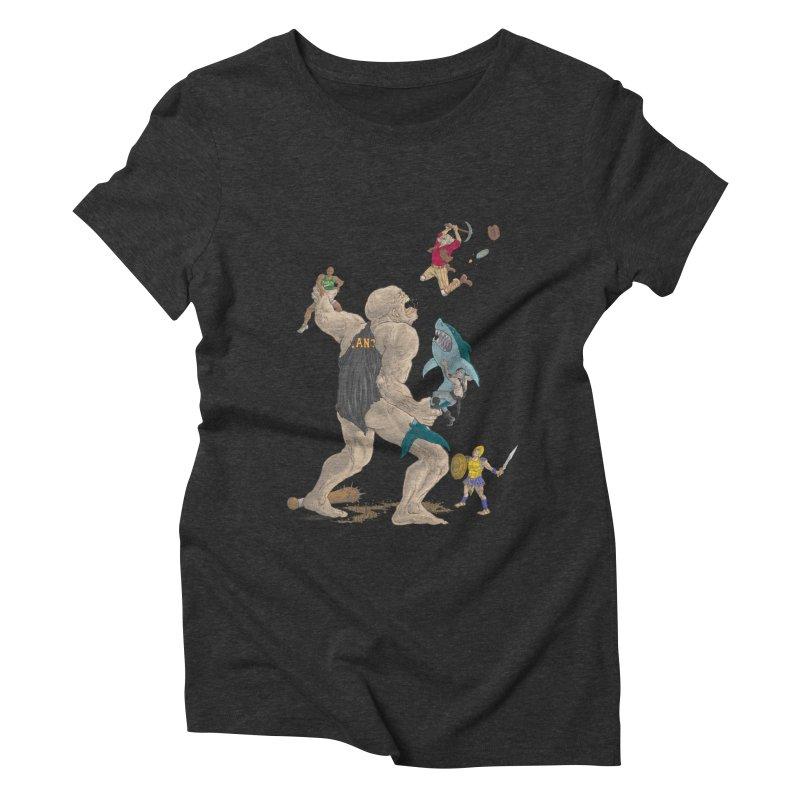 Bay area sports Women's Triblend T-shirt by zonka's Artist Shop