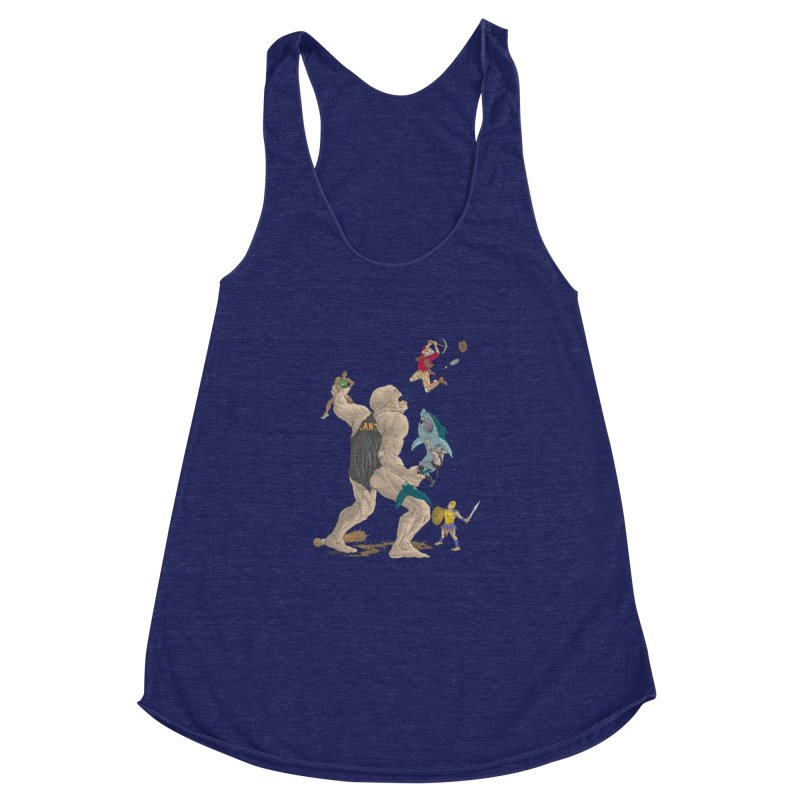 Bay area sports Women's Racerback Triblend Tank by zonka's Artist Shop