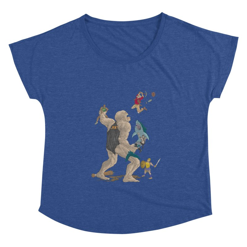 Bay area sports Women's Scoop Neck by Aaron Zonka's Artist Shop