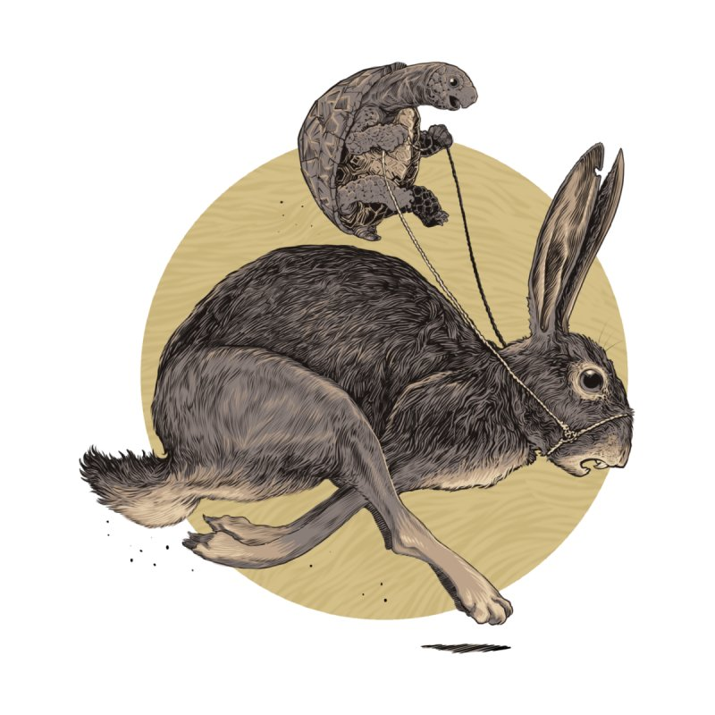 The tortoise and the hare Women's Tank by Aaron Zonka's Artist Shop