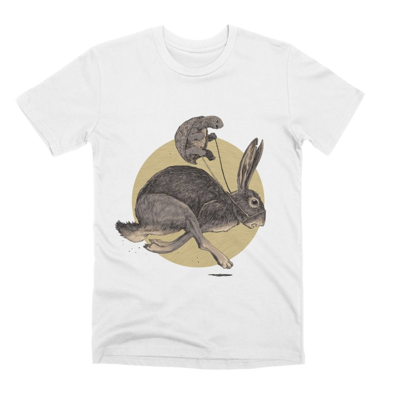 The tortoise and the hare Men's Premium T-Shirt by zonka's Artist Shop
