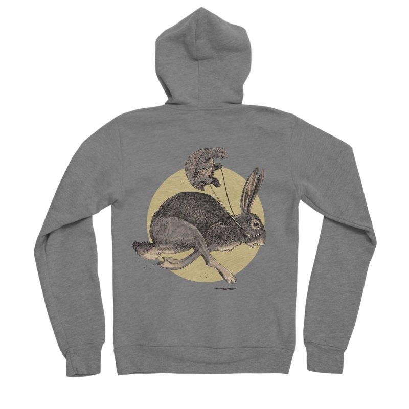 The tortoise and the hare Men's Sponge Fleece Zip-Up Hoody by zonka's Artist Shop