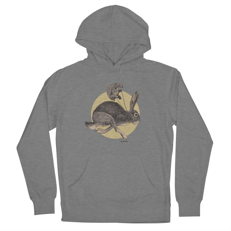 The tortoise and the hare Men's French Terry Pullover Hoody by zonka's Artist Shop