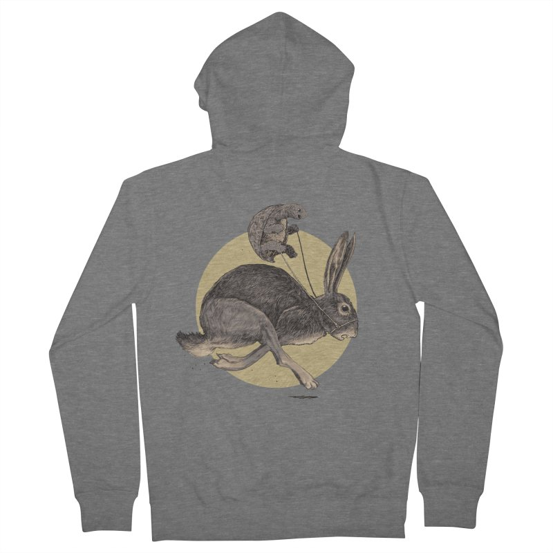 The tortoise and the hare Men's French Terry Zip-Up Hoody by zonka's Artist Shop