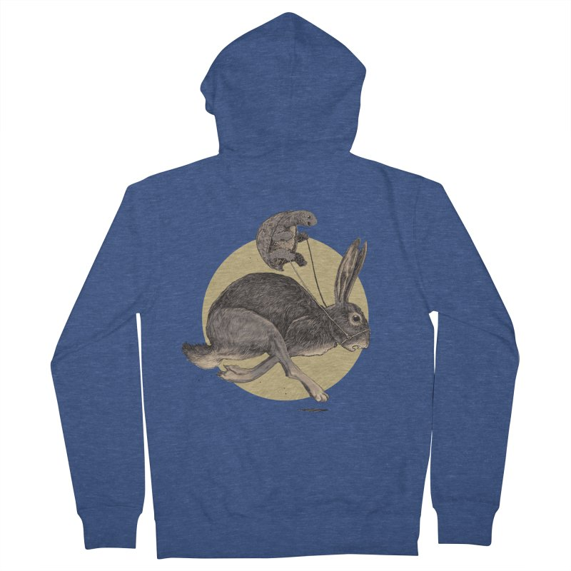 The tortoise and the hare Men's Zip-Up Hoody by Aaron Zonka's Artist Shop