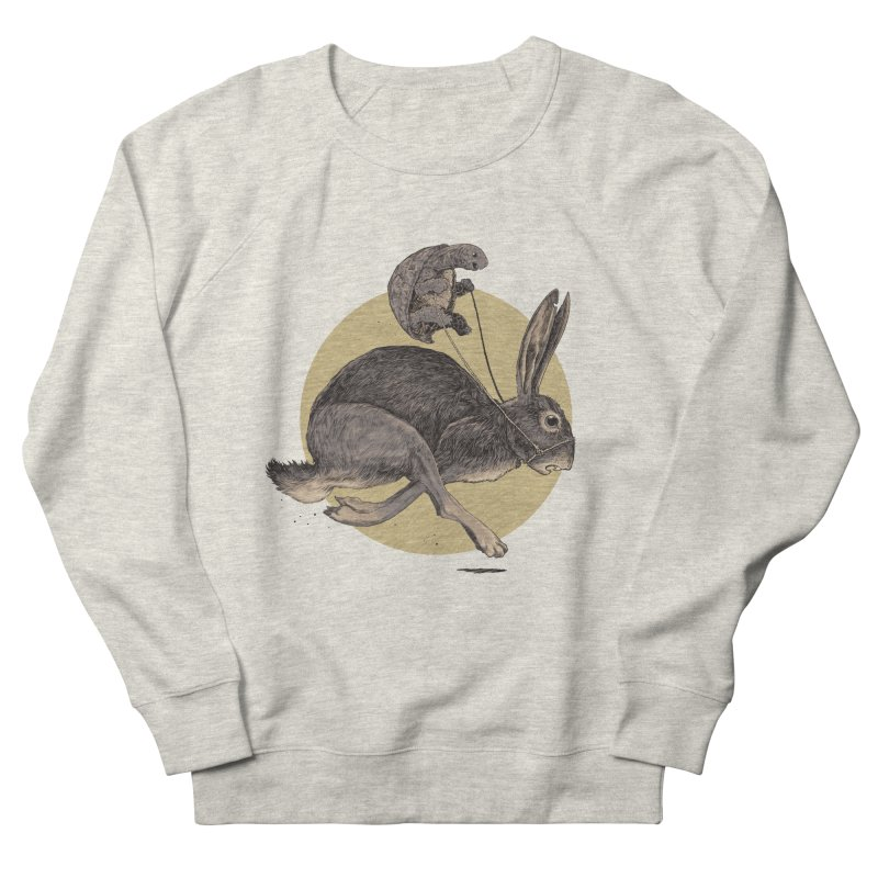 The tortoise and the hare Women's French Terry Sweatshirt by zonka's Artist Shop