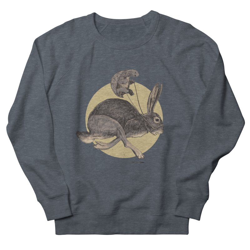 The tortoise and the hare Men's French Terry Sweatshirt by zonka's Artist Shop