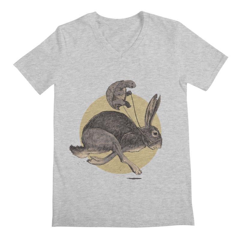 The tortoise and the hare Men's Regular V-Neck by zonka's Artist Shop