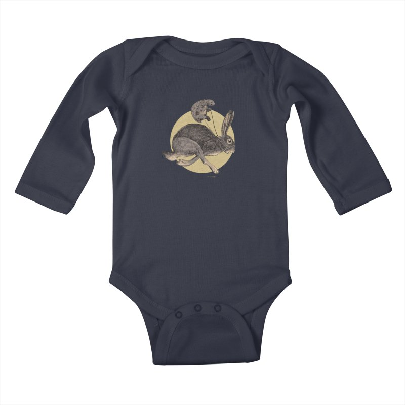 The tortoise and the hare Kids Baby Longsleeve Bodysuit by Aaron Zonka's Artist Shop