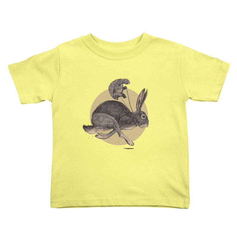 The tortoise and the hare Kids Toddler T-Shirt by zonka's Artist Shop