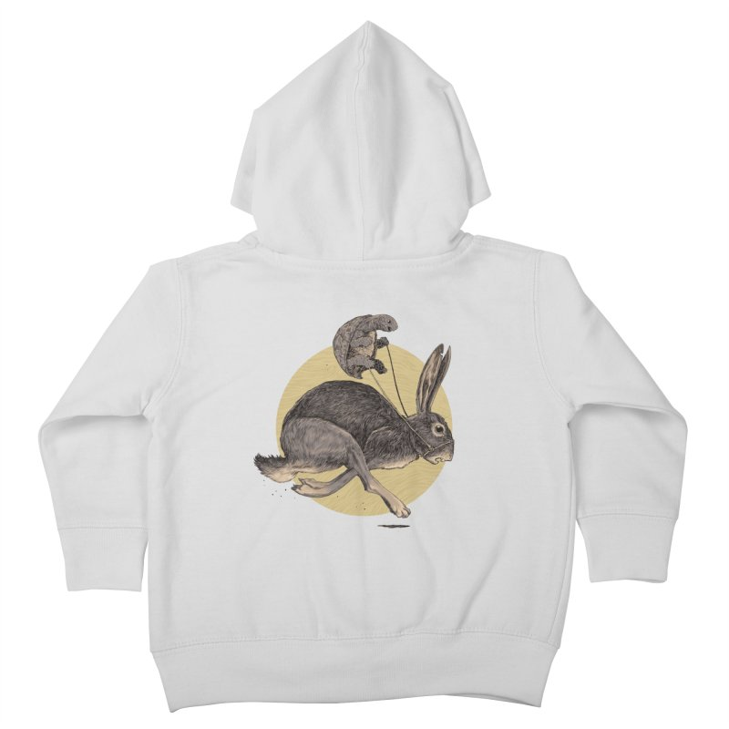 The tortoise and the hare Kids Toddler Zip-Up Hoody by zonka's Artist Shop