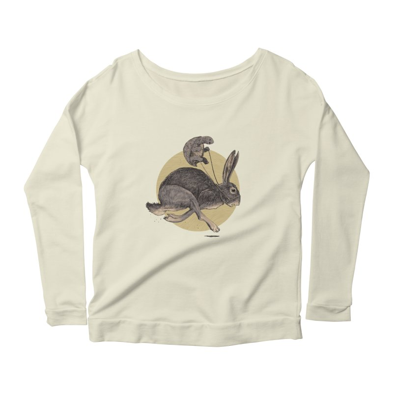 The tortoise and the hare Women's Scoop Neck Longsleeve T-Shirt by zonka's Artist Shop