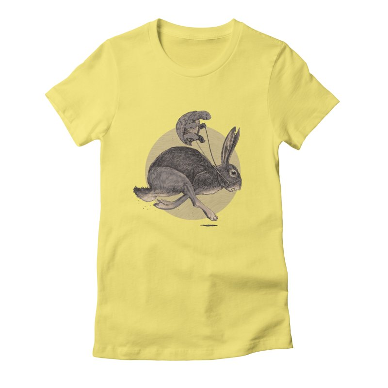 The tortoise and the hare Women's Fitted T-Shirt by zonka's Artist Shop