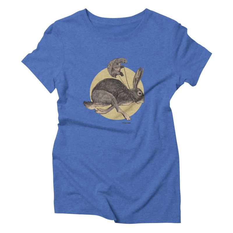 The tortoise and the hare Women's Triblend T-Shirt by zonka's Artist Shop