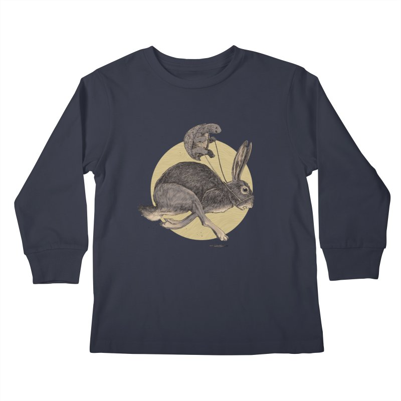 The tortoise and the hare Kids Longsleeve T-Shirt by Aaron Zonka's Artist Shop
