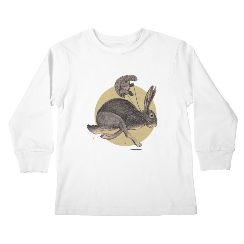 The tortoise and the hare Kids Longsleeve T-Shirt by zonka's Artist Shop