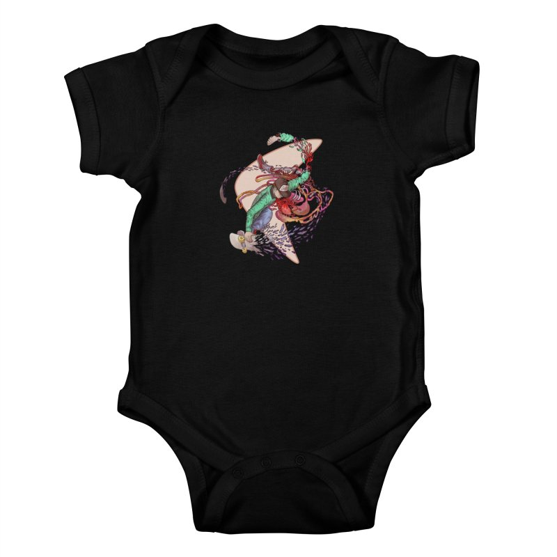 Shredded Kids Baby Bodysuit by zonka's Artist Shop