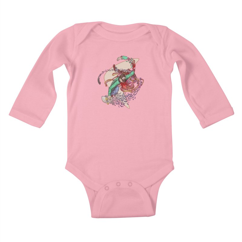 Shredded Kids Baby Longsleeve Bodysuit by Aaron Zonka's Artist Shop