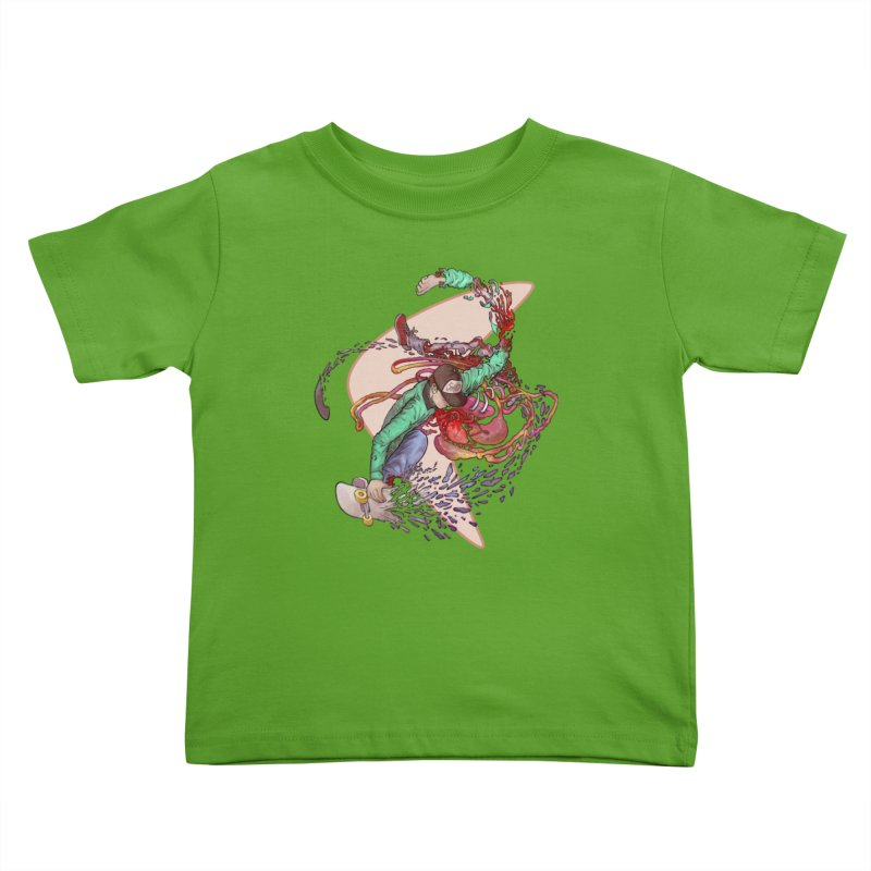 Shredded Kids Toddler T-Shirt by Aaron Zonka's Artist Shop