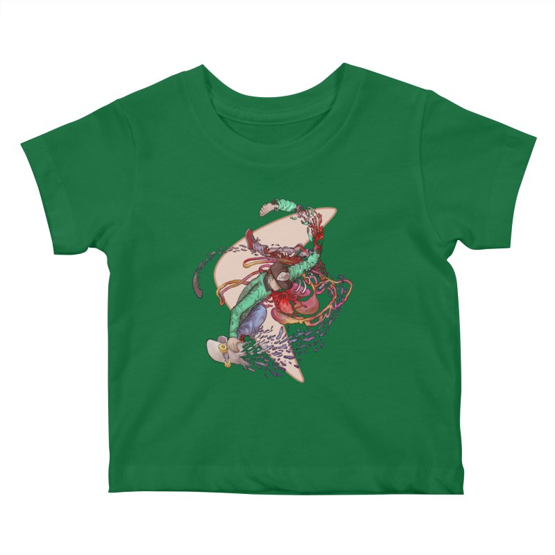 Shredded Kids Baby T-Shirt by Aaron Zonka's Artist Shop