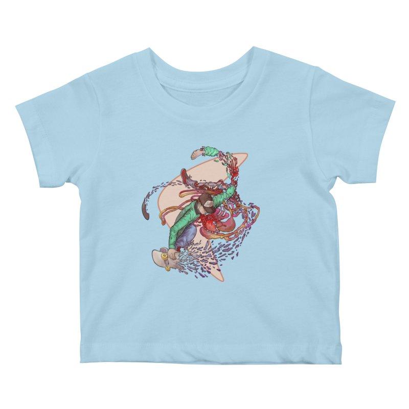 Shredded Kids Baby T-Shirt by Aaron Zonka's Artist Shop