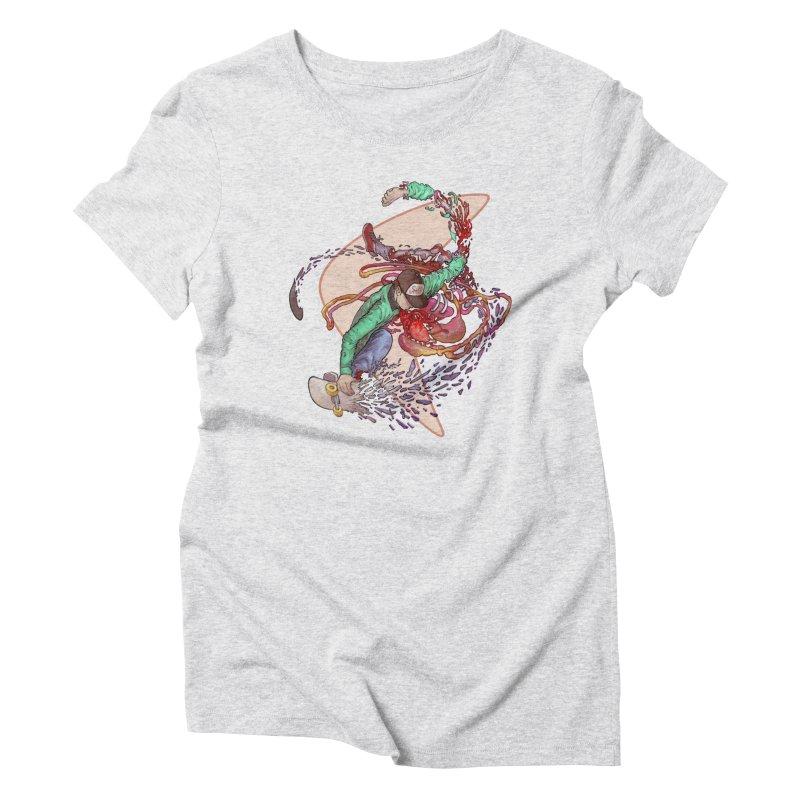 Shredded Women's T-Shirt by Aaron Zonka's Artist Shop