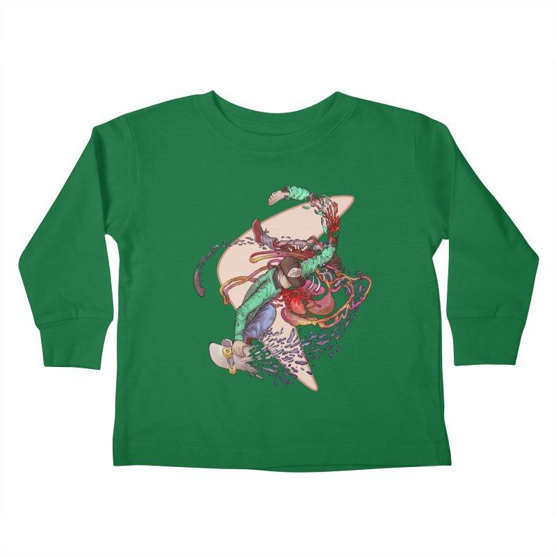 Shredded Kids Toddler Longsleeve T-Shirt by Aaron Zonka's Artist Shop