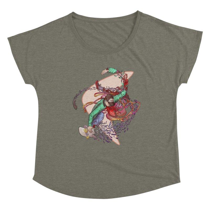 Shredded Women's Dolman Scoop Neck by zonka's Artist Shop
