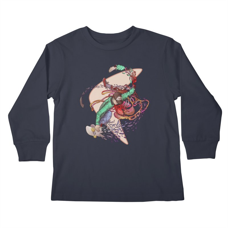 Shredded Kids Longsleeve T-Shirt by Aaron Zonka's Artist Shop