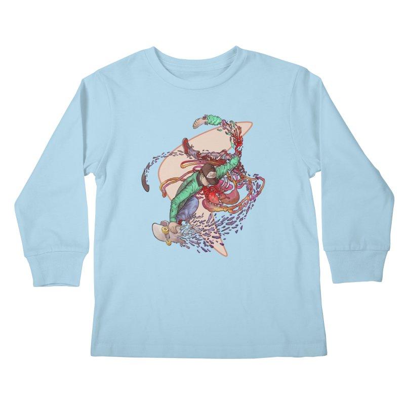 Shredded Kids Longsleeve T-Shirt by Aaron Zonka's Artist Shop