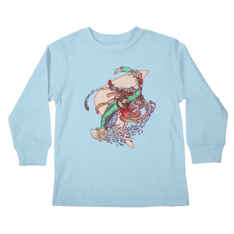 Shredded Kids Longsleeve T-Shirt by zonka's Artist Shop