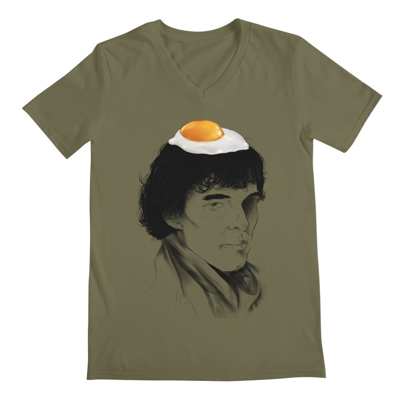 Eggs Benedict (Cumberbatch) Men's V-Neck by zonnie's Shop
